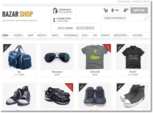 Wordpress E-Ticaret Temaları - Bazar Shop