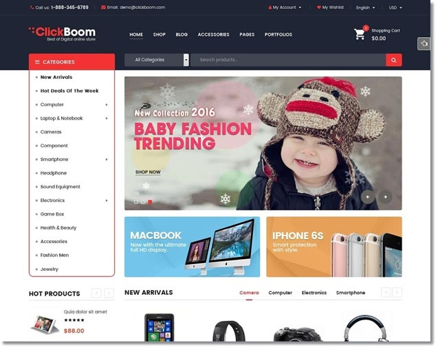 Wordpress E-Ticaret Temaları - ClickBoom