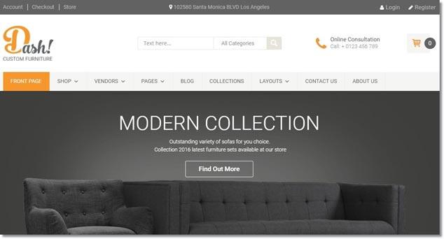Wordpress E-Ticaret Temaları - Dash