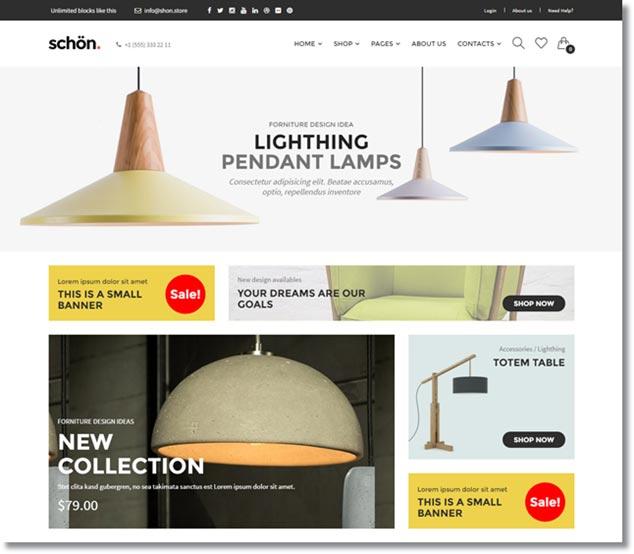 Wordpress E-Ticaret Temaları - Schön