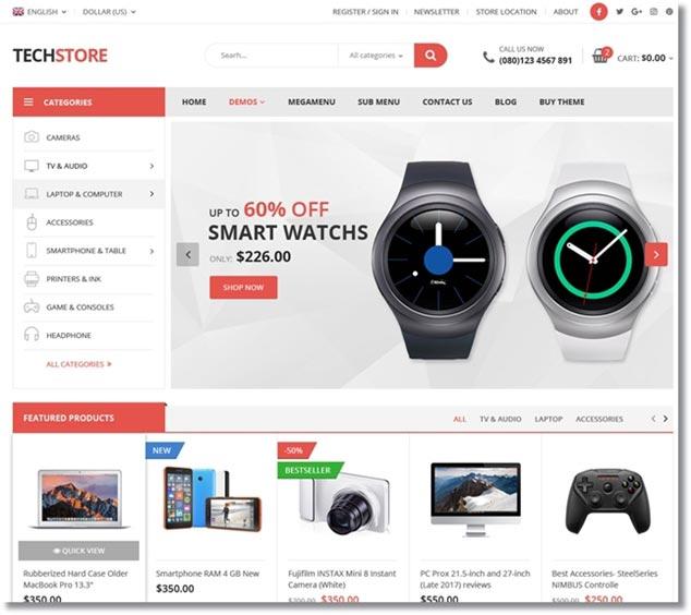 Wordpress E-Ticaret Teması TechOne