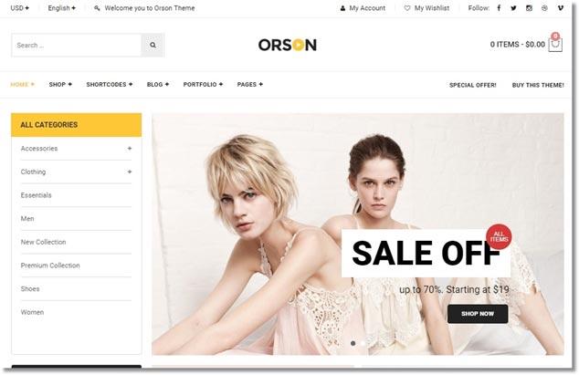 Wordpress E-Ticaret Temaları - Orson