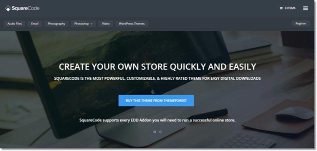 Wordpress E-Ticaret Teması - SquareCode