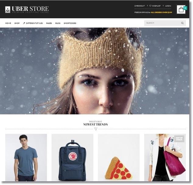 Wordpress E-Ticaret Teması Uber Store