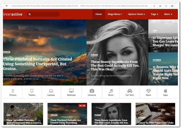 Wordpress teknoloji teması interacitve