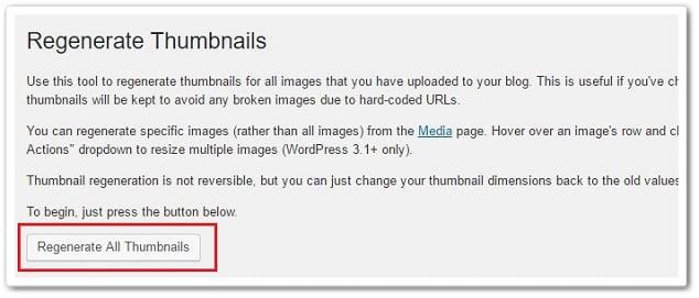 Wordpress Tema Değiştirme - Regenerate Thumbnails