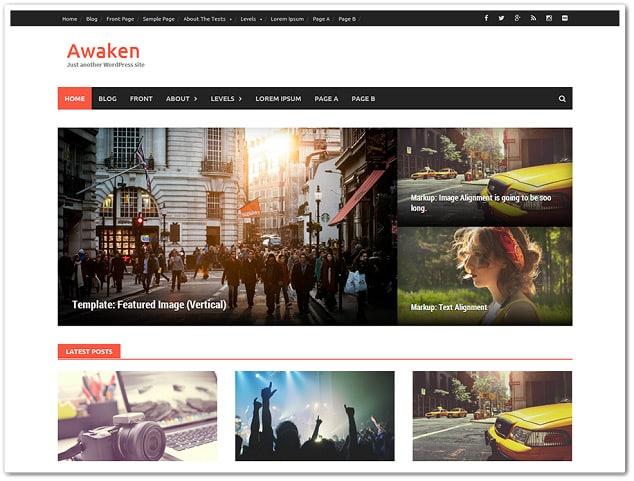 Ücretsiz WordPress Temaları - Awaken