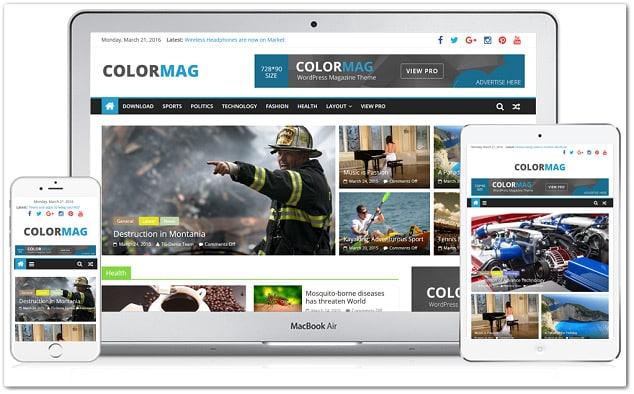 Ücretsiz WordPress Temaları - ColorMag