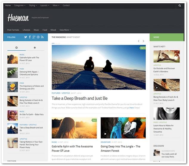 Ücretsiz WordPress Temaları - Hueman