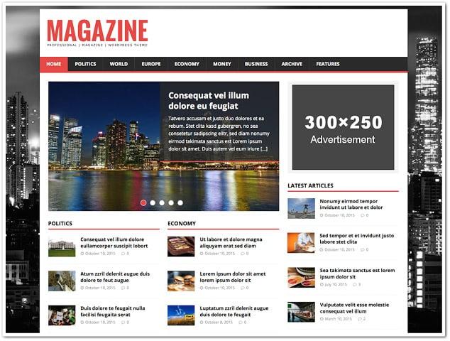 Ücretsiz wordpress temaları - mh magazine