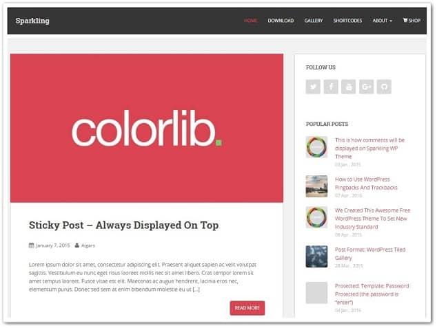 Sparklink ücretsiz wordpress teması