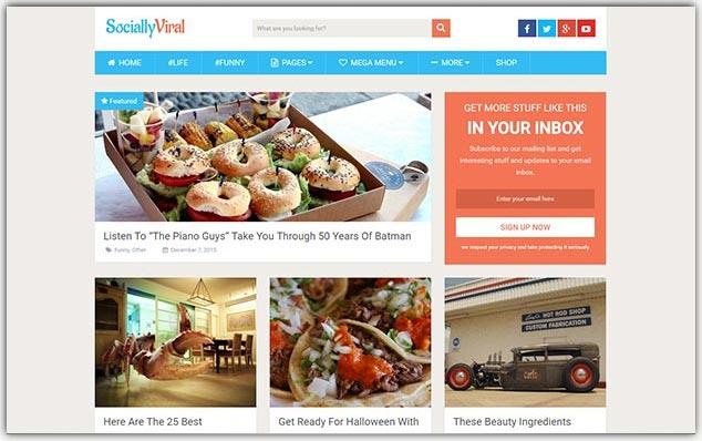 SocialyViral - Seo Uyumlu Sosyal Medya Teması