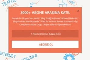 Wordpress Abonelik Formu - Wordpress Abone Ol Eklentisi