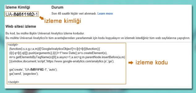 Google Analytics İzleme Kodu