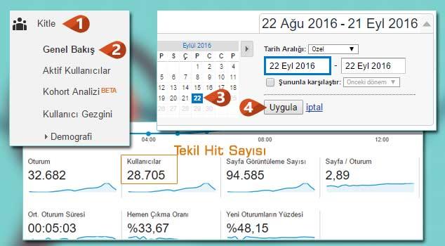 Google Analytics Tekil Hit Öğrenme
