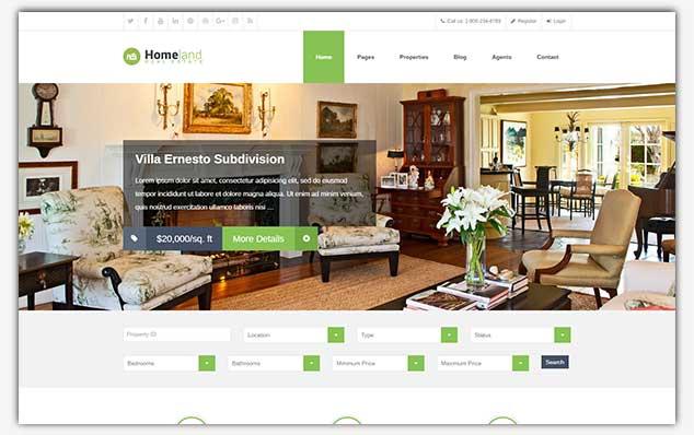 HomeLand - WordPress Emlak Teması