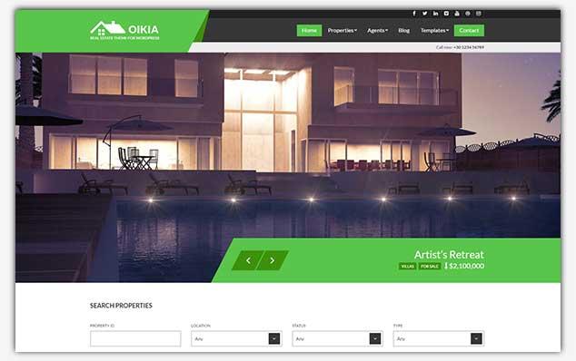 Oikia - WordPress Emlak Teması