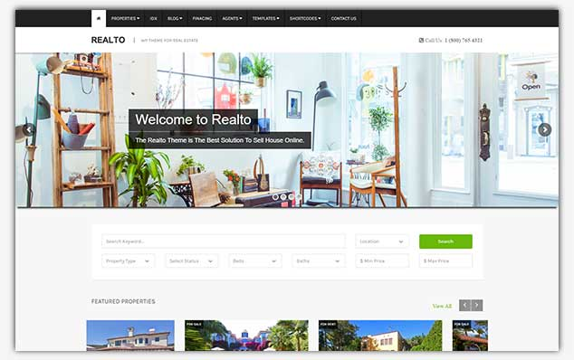 Realto - WordPress Emlak Teması