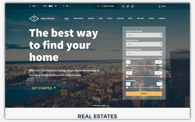 RealtySpaces - WordPress Emlak Teması