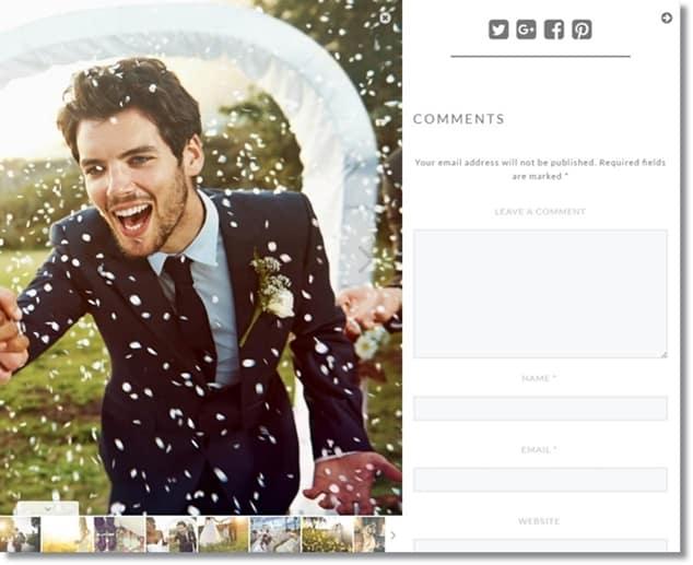 Wordpress Galeri Eklentisi Yorum ve Sosyal Paylaşım Butonları Özelliği