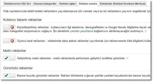 Google Adsense Gelir Arttırma Reklam Sunma Ayarları
