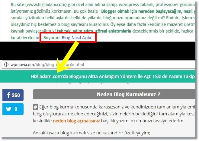 Wordpress Duyuru Eklentisi - Referrer Özelliği