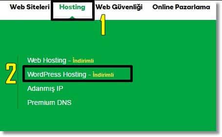 Wordpress İle Site Kurma - WordPress Hosting Paneline Ulaşım
