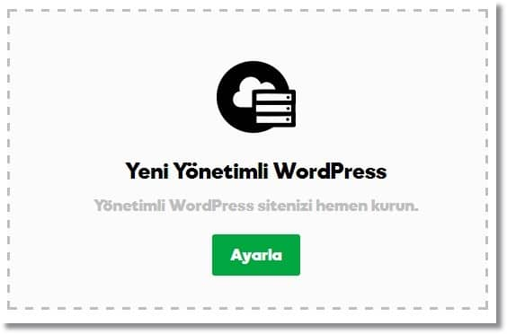 Wordpress Site Kurma - Yeni Yönetimli WordPress