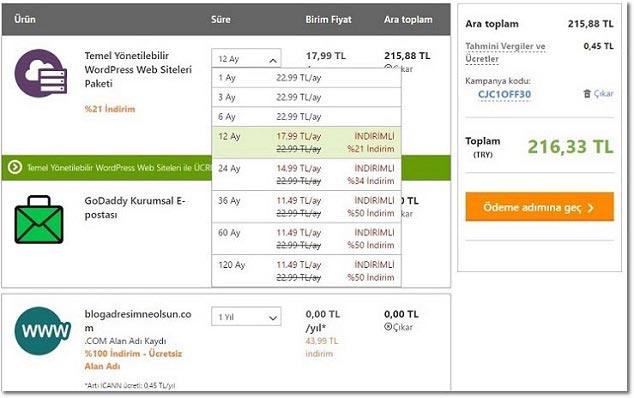 Hosting Satın Alma Süreci - ( WordPress Site Kurulumu )
