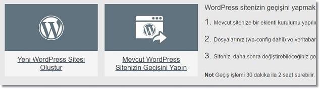 Wordpress Site Kurma Yeni WordPress Sitesi Oluştur