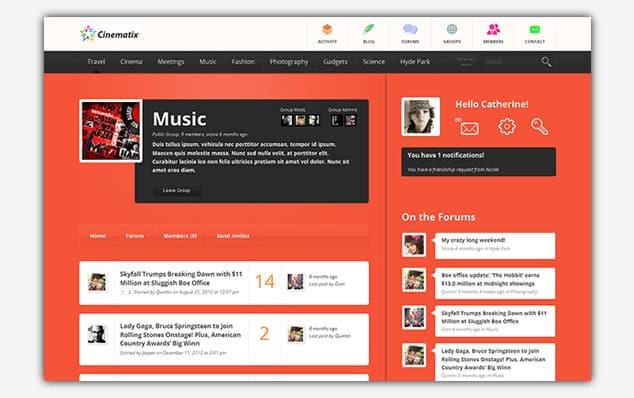 Cinematix - (WordPress Forum Teması)