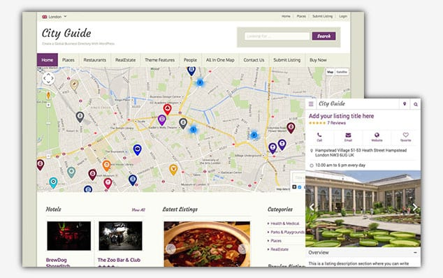 City Guide - (WordPress İlan Teması)