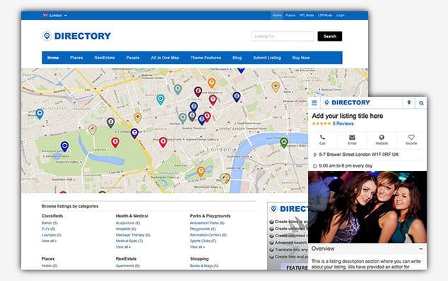 Directory - (WordPress İlan Teması)