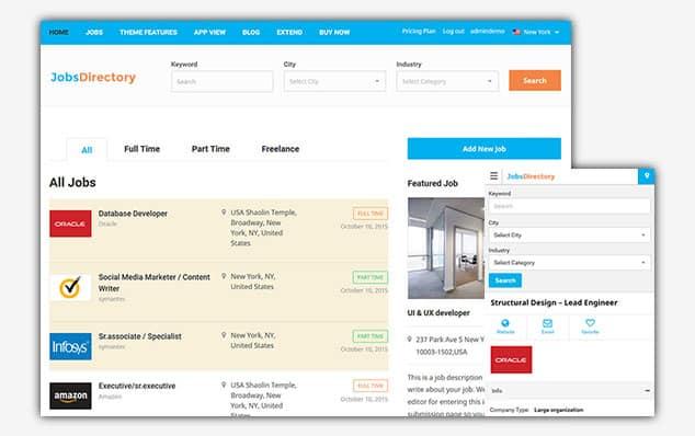 Jobs Directory - (WordPress İlan Teması)