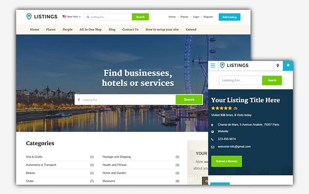 Listing Directory - (WordPress İlan Teması)