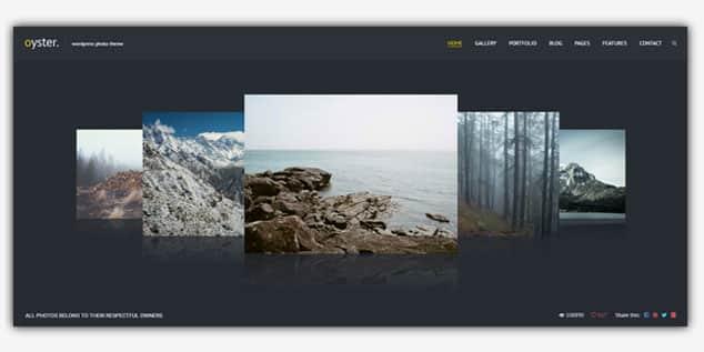 Oyster - (WordPress Fotoğrafçılık Teması)