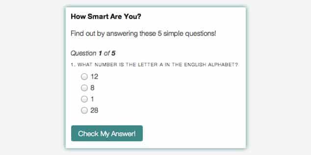 Slick Quiz - WordPress Sınav Eklentisi / Soru Tipleri