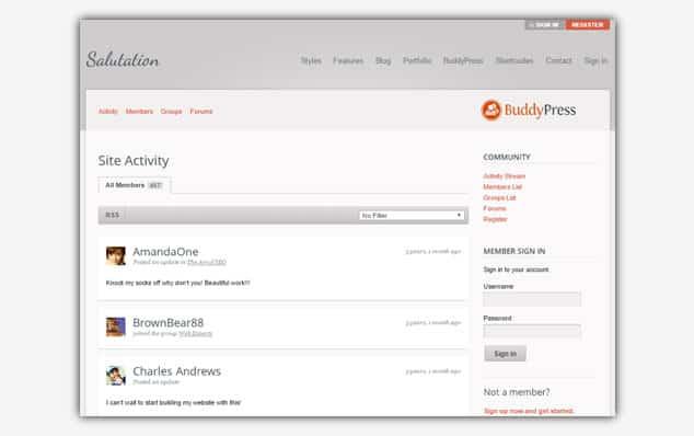 Salutation - (WordPress Forum Teması)