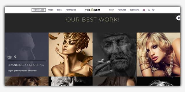 TheGem - (WordPress Fotoğrafçılık Teması)