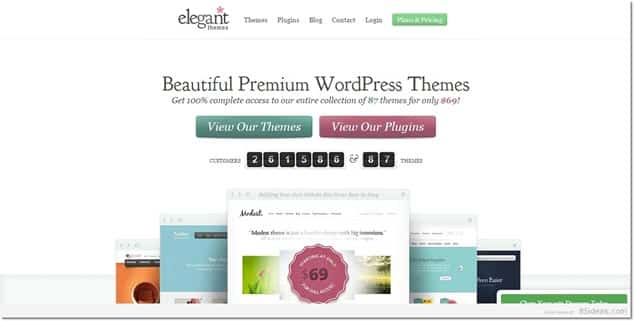 Ücretli WordPress Temaları Satılan Siteler - Elegant Themes