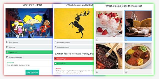 Viral Quiz - WordPress Test Eklentisi /Test Çeşitleri