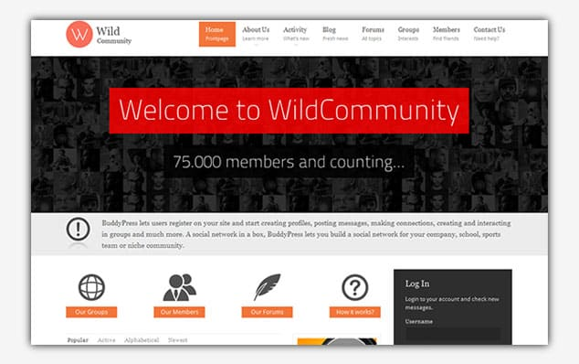 WildCommunity - (WordPress Forum Teması)