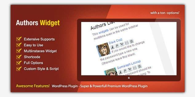 Author Widget Box - (WordPress Yazar Kutusu Eklentisi)