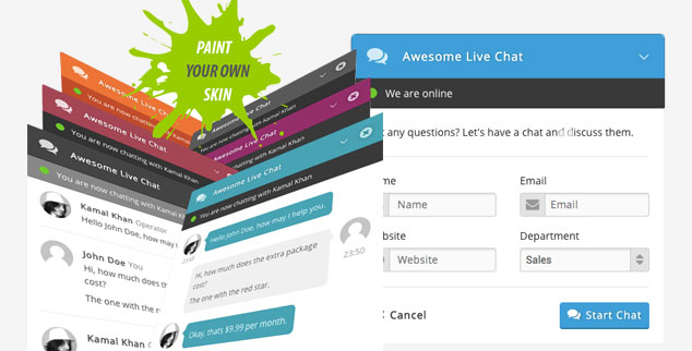 Awesome Live Chat - ( WordPress Canlı Destek Eklentisi )