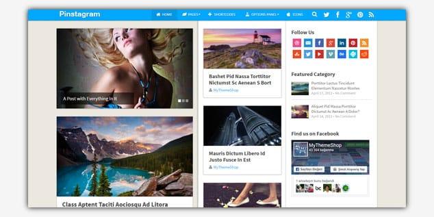 Wordpress Adsense Teması - Pinstagram