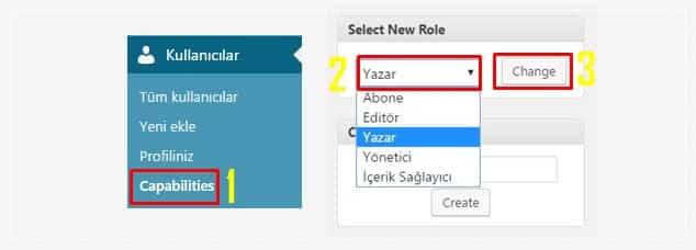 Wordpress Kullanıcı Yetkileri Düzenleme