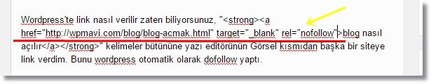 Wordpress Nofollow Link Verme