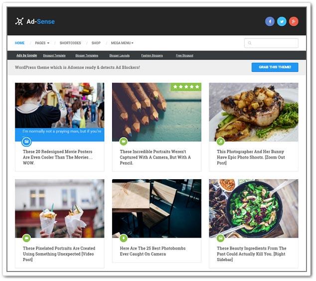 Wordpress Blog Teması - WordPress Blog Temaları - Adsense