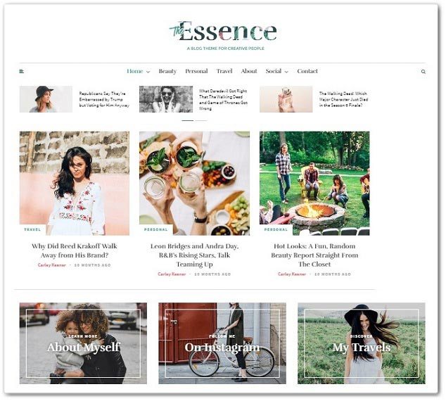 Wordpress Blog Teması - Essence