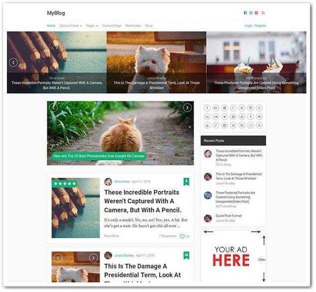 Wordpress Blog Teması - WordPress Blog Temaları - Myblog